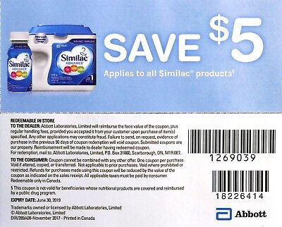 7 x $5 off on Similac Product Canada Coupons