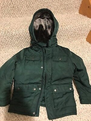 Kids Appaman Green Unisex coat With Removable Hood Size 10