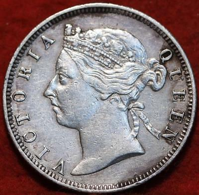 1894 British Honduras 25 Cents Silver Foreign Coin