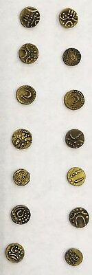 India  Gold Fanams. Collection of 14.Coins. Guaranteed Genuine! No Reserve!