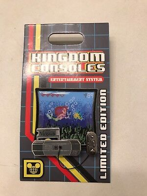 Disney Pin Kingdom Consoles – The Little Mermaid LE 4000 Ariel Flounder