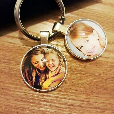 Personalised Custom Photo Keyring Chain Valentines Day Dad Mum Birthday Gifts