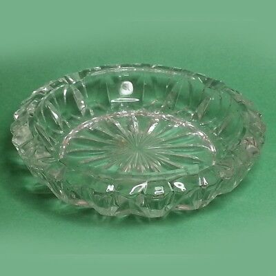 "Cigar Ashtray Round Glass 5"" in diameter"