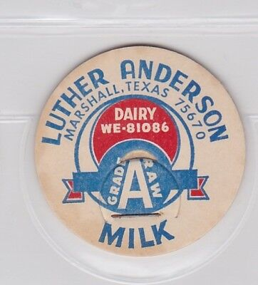 Luther Anderson milk cap- Marshall, Texas