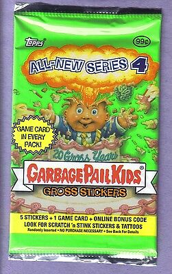 2005 Garbage Pail Kids All New Series 4 ANS 4 Unopened Sticker Pack Rare!