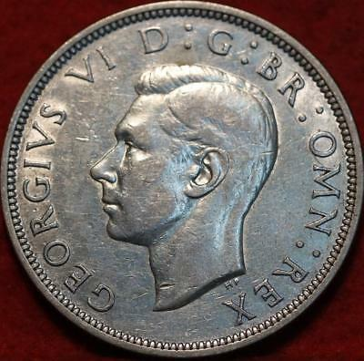 1939 Great Britain 1/2 Crown Silver Foreign Coin