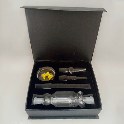 18mm Glass Nectar collector kit with Titanium tip hookah