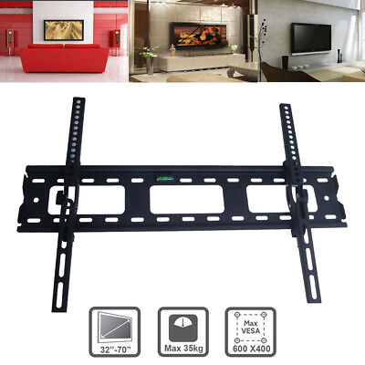 TV Bracket Wall Mount Slimline Tilting LCD LED 32 40 43 47 48 49 50 55 60 65 70""