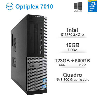 Dell OptiPlex 9020 SFF Desktop PC i7-4770s 3.4GHz 8GB 256GB SSD DVDRW Win10 Pro