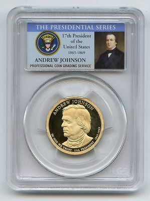 2011 S $1 Andrew Johnson Dollar PCGS PR70DCAM