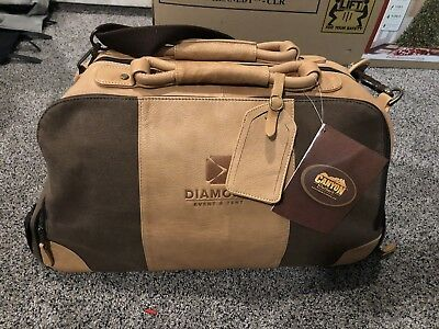 "Canyon Outback 20"" Stilson Leather   Canvas Wheeled Duffel Bag - Promo Bag 7734949c78609"