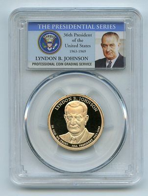 2015 S $1 Lyndon B Johnson Dollar PCGS PR70DCAM