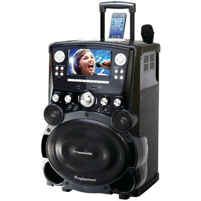 Karaoke USA(TM) GP978 Professional DVD/CD+G/MP3+G Bluetooth(R) Karaoke System wi