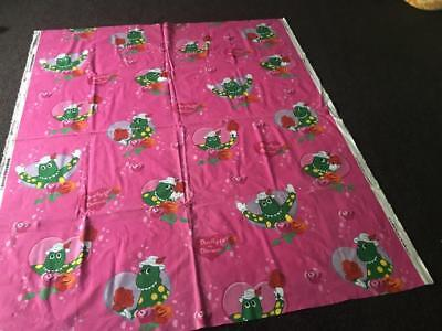 WIGGLES DOROTHY THE DINOSAUR - FABRIC MATERIAL / 121cm x 51cm - AS NEW