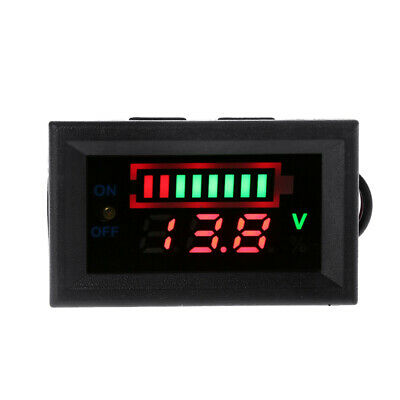 12V Car Lead Acid Battery Capacity Voltmeter Indicator Power Tester with Switch
