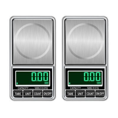 USB Charging Pocket Scale 500g/0.01g Protable Electronic Digital Jewelry Scales