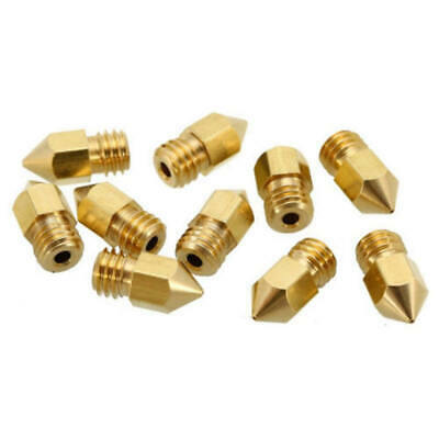 10pcs MK8 Extruder Nozzle For 3D Printer CR-10 5 Different Size 0.2mm 0.4mm 0 PB