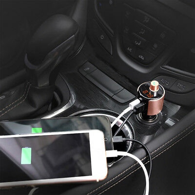 Wireless Bluetooth Car Kit FM Transmitter Radio Adapter USB Charger Mp3 Player