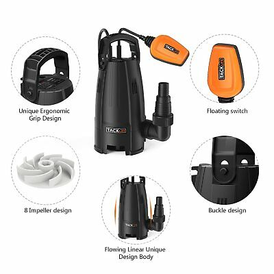 TACKLIFE Submersible Water Pump 400W Flood Water Dirty Water Remover 9000l/h