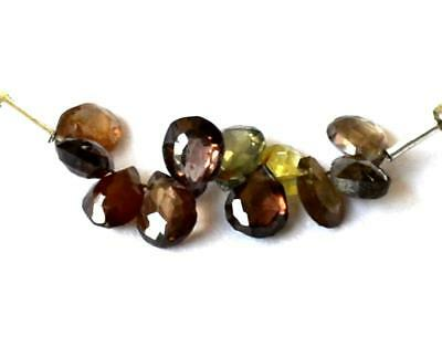 11 Pcs Natural Tunduru Faceted Pear Briolette Gemstone Beads 4X6 Mm  #237