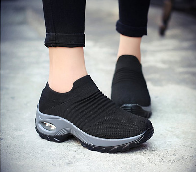 Women Flat with Boots Sport Sneakers Mesh Shoes Thick Bottom Platform Shoes Air