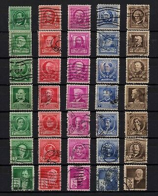 USA, Scott # 859-893, COMPLETE SET OF 35 STAMPS - FAMOUS AMERICAN AUTHORS