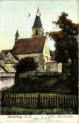 Poland, Olesno, Rosenberg O.S., Church, Old Postcard Pre. 1905