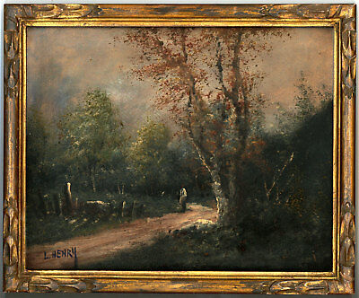 Louis Henry - Early 20th Century Oil, Figure in a Woodland Landscape