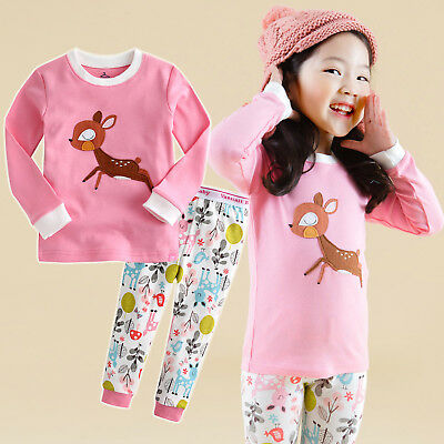 "Vaenait Baby Toddler Kids Girls Clothes Pjs Pajama Set ""Mini Bambi"" XS(12-24M)"