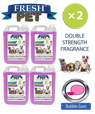 Fresh Pet Perrera Perro Desinfectante Doble Fuerza Fragancia 4x5L Chicle