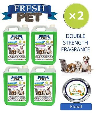Fresh Pet Perrera Perro Desinfectante Doble Fuerza Fragancia 4x5L Floral