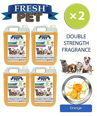 Fresh Pet Perrera Perro Desinfectante Doble Fuerza Fragancia 4x5L Naranja