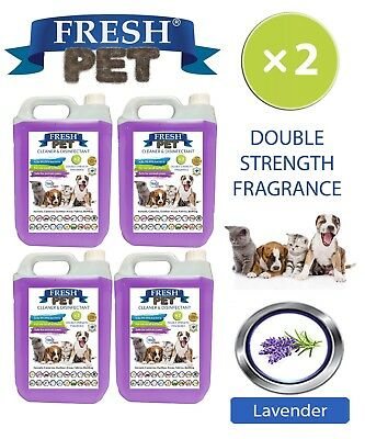 Fresh Pet Perrera Perro Desinfectante Doble Fuerza Fragancia 4x5L Lavanda