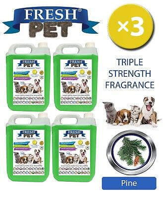 Fresh Pet Perrera Perro Desinfectante Triple Fuerza Fragancia 4x5L Pino