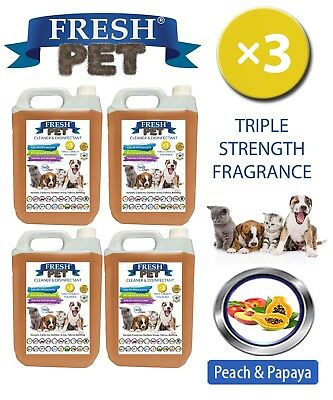 Fresh Pet Perrera Perro Desinfectante Triple Fuerza Fragancia 4x5L Peach &