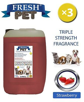 Fresh Pet Perrera Perro Desinfectante Triple Fuerza Fragancia 20L Fresa