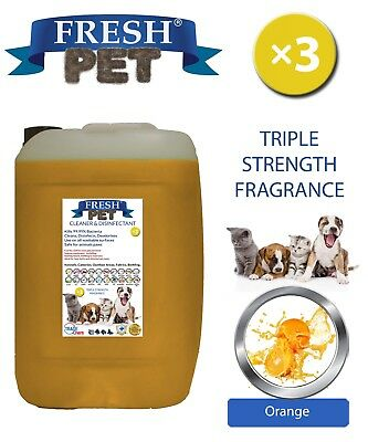 Fresh Pet Perrera Perro Desinfectante Triple Fuerza Fragancia 20L Naranja