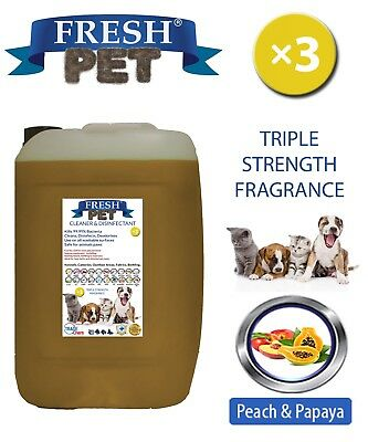 Fresh Pet Perrera Perro Desinfectante Triple Fuerza Fragancia 20L Peach & Papaya