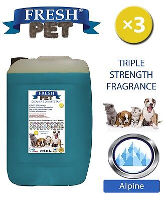 Fresh Pet Perrera Perro Desinfectante Triple Fuerza Fragancia 20L Alpine