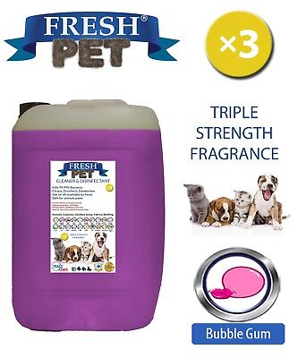 Fresh Pet Perrera Perro Desinfectante Triple Fuerza Fragancia 20L Chicle