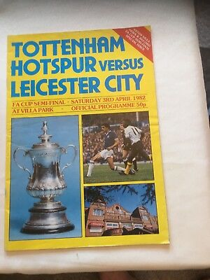 Spurs V Leicester City 1982 Fa Cup Semi Final Programme.