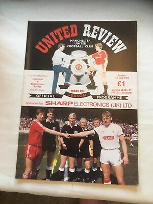 FA Cup Semi Final 1989, Liverpool v Nottingham Forest. Excellent Condition.
