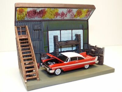 Diorama garage film CHRISTINE & CHRYSLER PLYMOUTH FURY 1/64