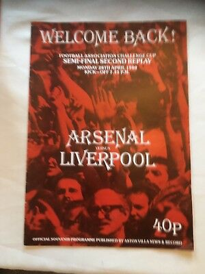 FA Cup Semi Final 2nd Replay 1980 Arsenal v Liverpool. Good Condition.