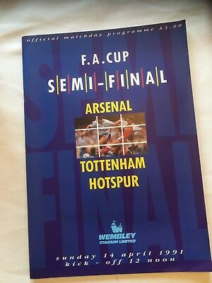 FA Cup Semi Final 1991 Arsenal v Spurs. Excellent Condition.