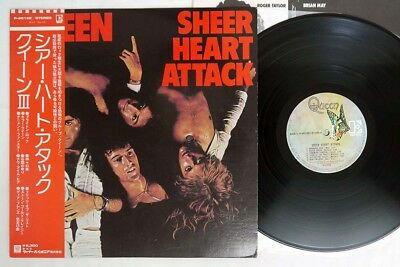 QUEEN SHEER HEART ATTACK ELEKTRA P-8516E Japan OBI VINYL LP