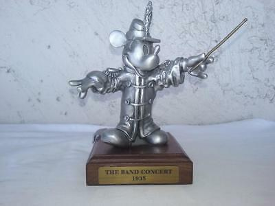 """Disney's The Generations of Mickey fine pewter by Hudson """"THE BAND CONCERT"""" 1935"""
