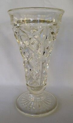 Vintage - Clear Depression Glass Vase (Large)