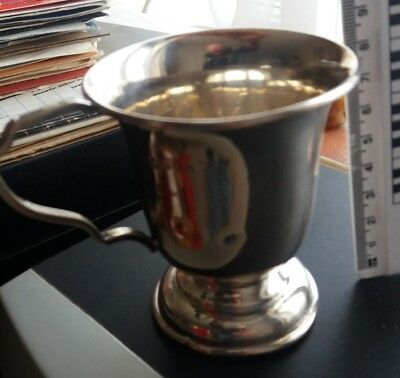 Solid silver hallmarked presentaion cup 1948. 74.9gms weight.