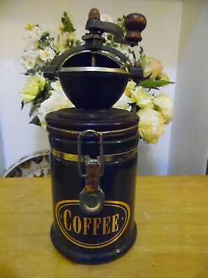 Cast Iron & Ceramic Hand Operated Coffee Grinder Mill By Birchleaf Approx 28Cm
